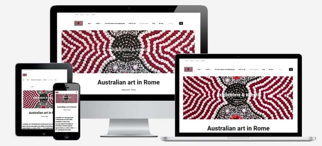 Web Design for Australian Art Dealer in Rome, Italy