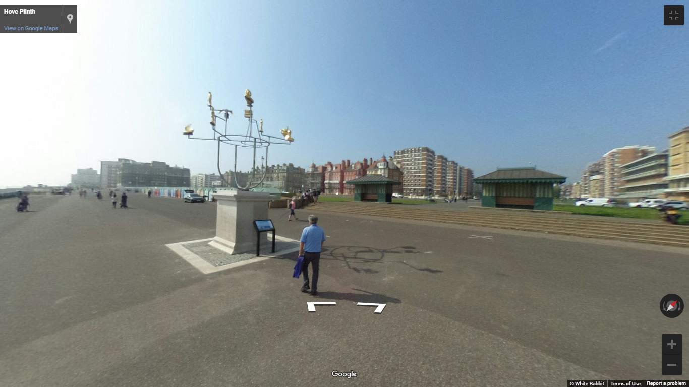 Mobile Phone Tap & Go and StreetView 360° Virtual Tour of Hove Plinth in Sussex